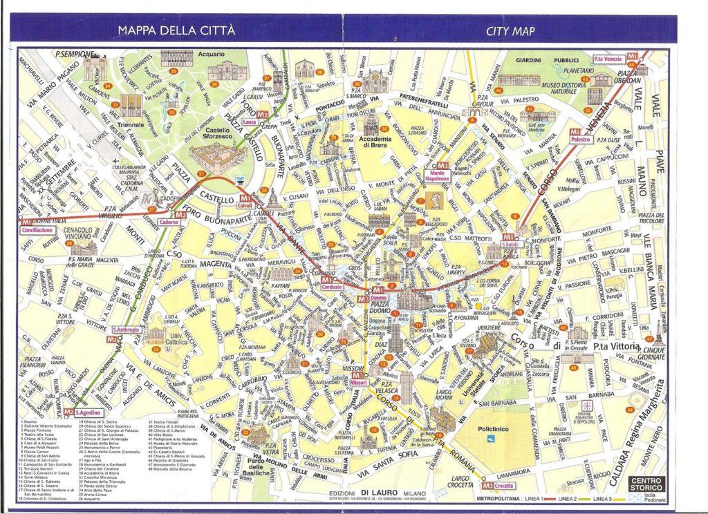 plano milan 001 1024x744 - Qué ver en Milán en 1 día?