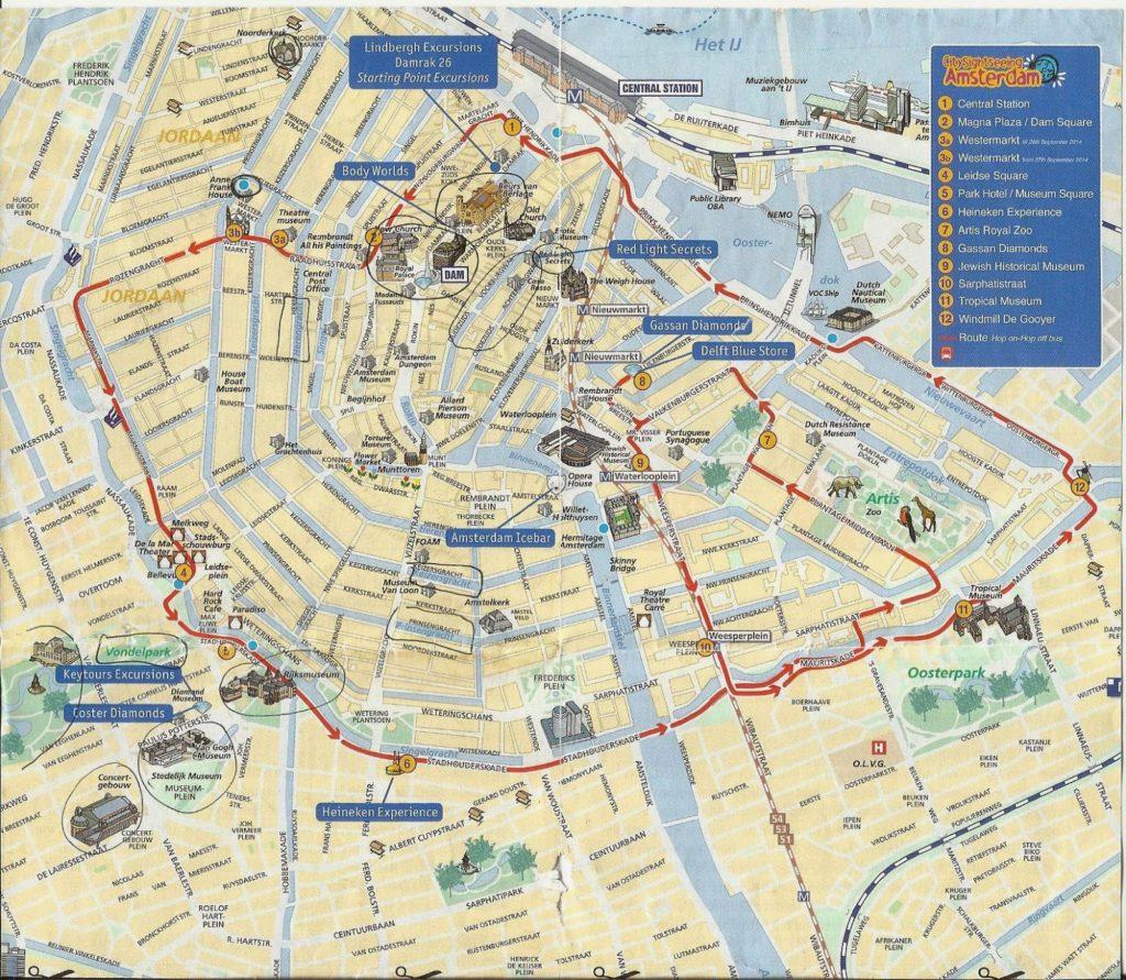 planoamsterdam 1024x891 - Qué ver en Amsterdam en 2 días? (II)