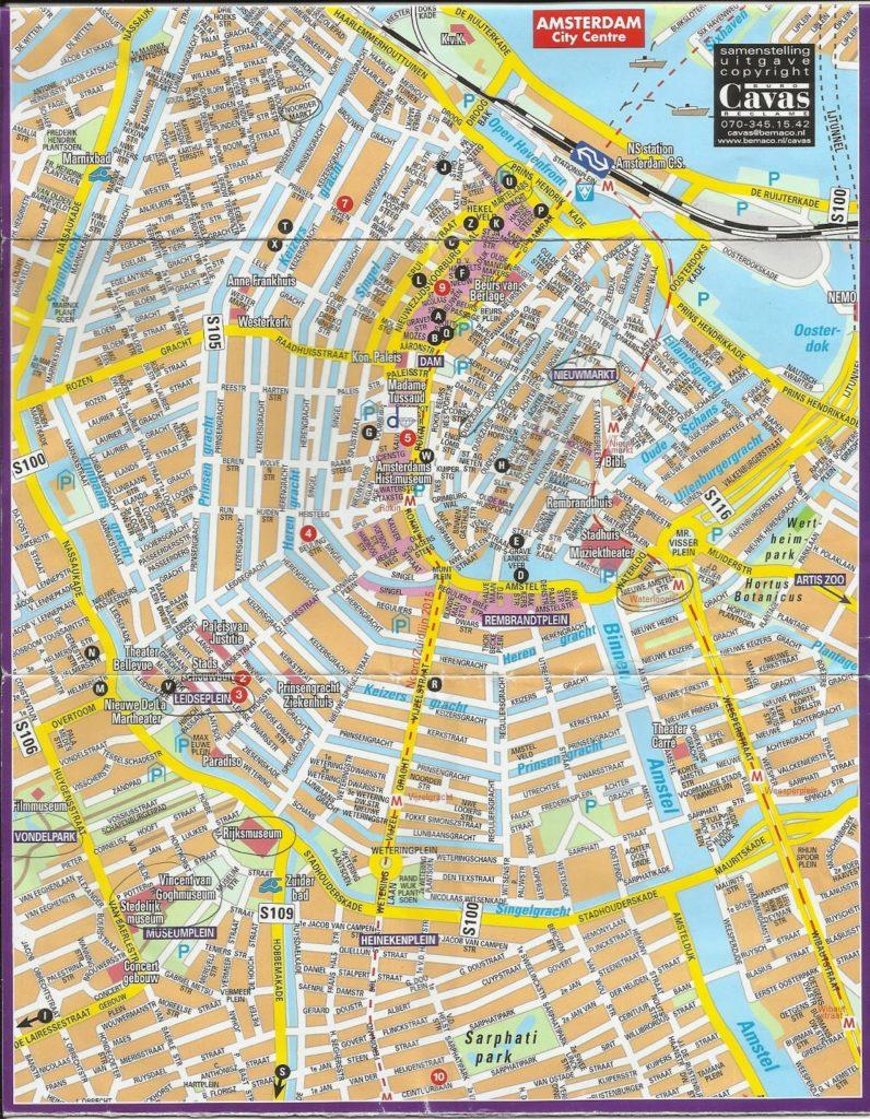 planoamsterdamII 796x1024 - Qué ver en Amsterdam en 2 días? (II)