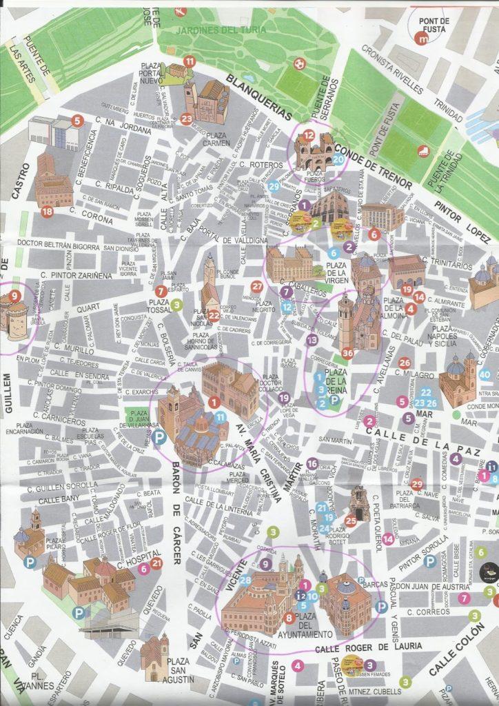 planodevalencia 724x1024 - Qué ver en Valencia en 1 día?