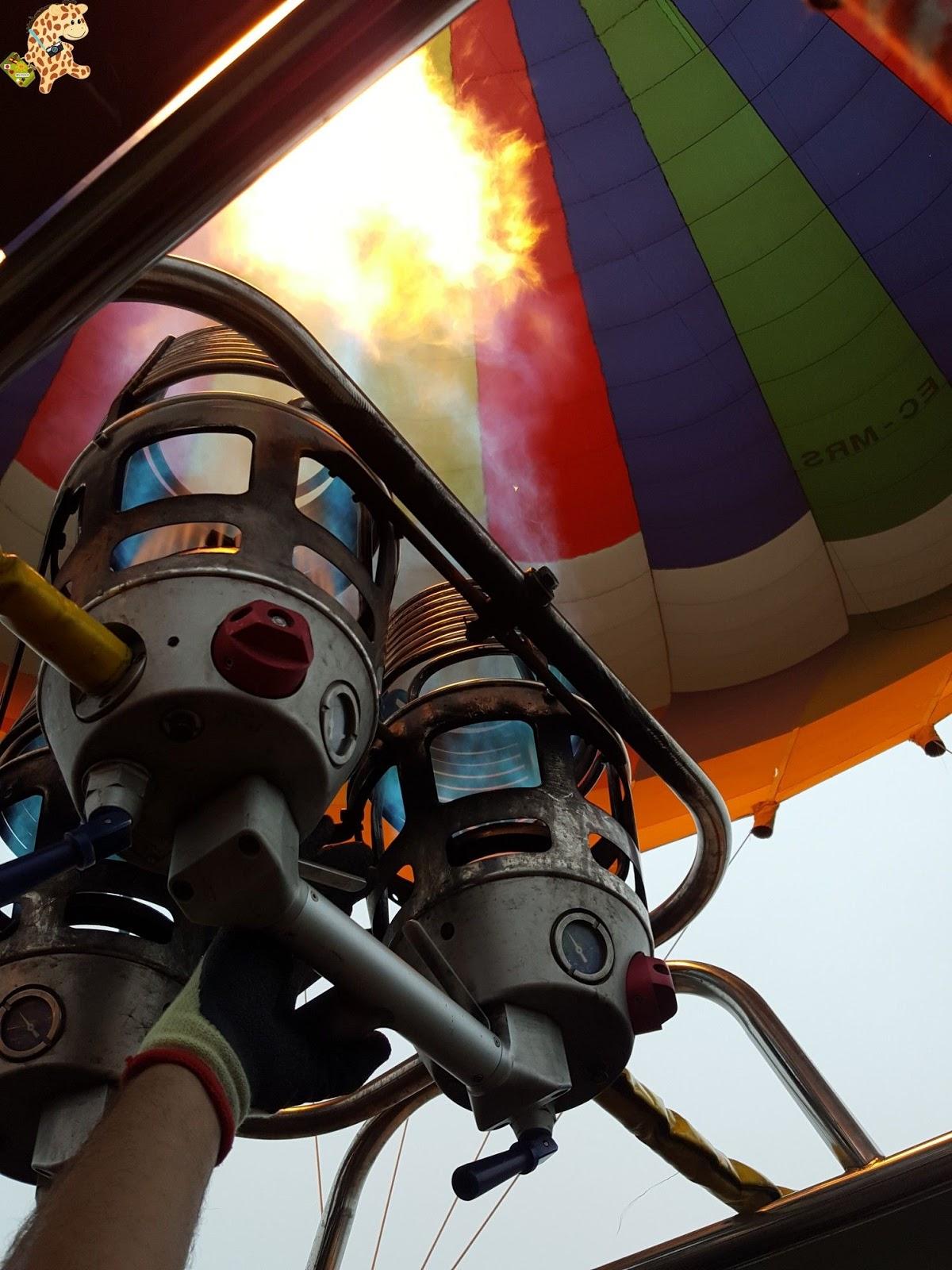 Volar en globo por primera vez, en globo por la Ribeira Sacra