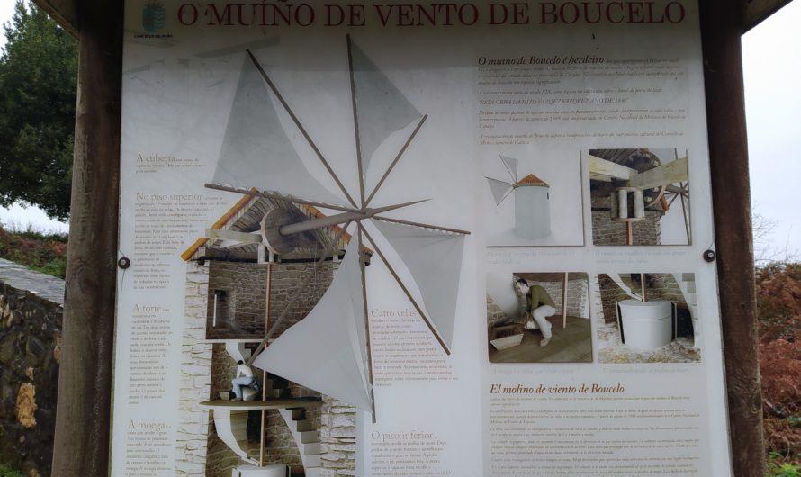 Molinos de viento en Galicia: molino de Boucelo en Miño